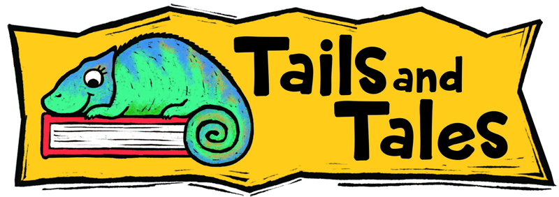 Tails and Tales lizard logo